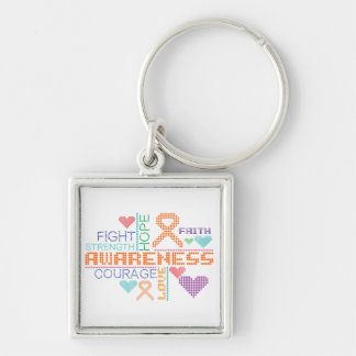 Multiple Sclerosis Colorful Slogans Keychains