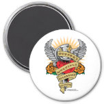 Multiple Sclerosis Dagger 3 Inch Round Magnet
