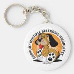 Multiple Sclerosis Dog Keychain