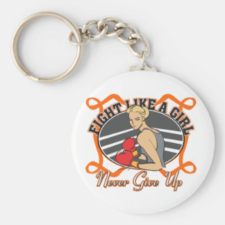 Multiple Sclerosis Fight Like A Girl Boxer Keychains
