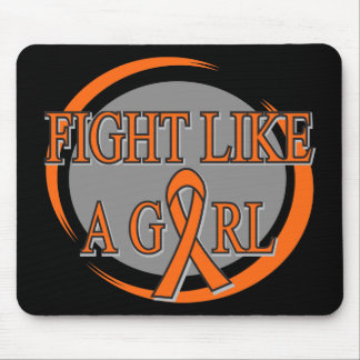 Multiple Sclerosis Fight Like A Girl Circular Mouse Pad