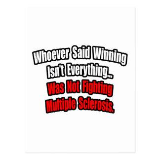 Multiple Sclerosis Fighting Quote Post Cards
