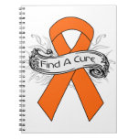 Multiple Sclerosis Find A Cure Ribbon Spiral Notebook