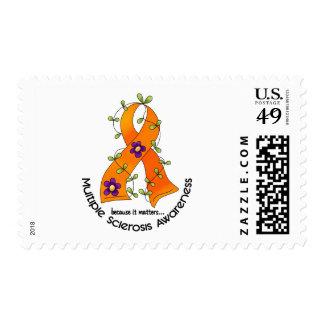 Multiple Sclerosis FLOWER RIBBON 1 Stamp