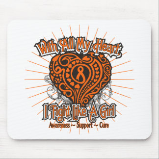 Multiple Sclerosis Heart I Fight Like A Girl Mouse Pad