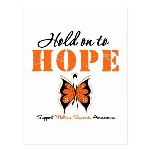 Multiple Sclerosis Hold On To Hope Post Card