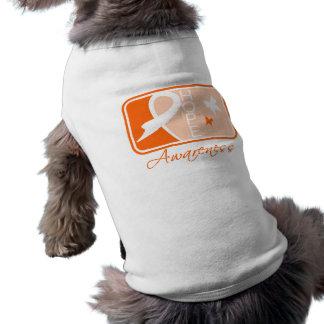 Multiple Sclerosis Hope Awareness Tile Doggie T Shirt