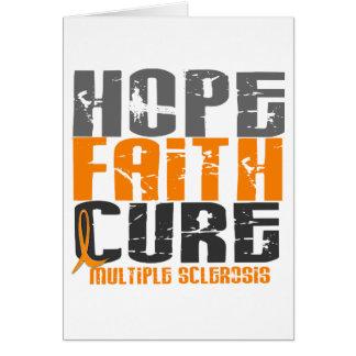Multiple Sclerosis HOPE FAITH CURE Card
