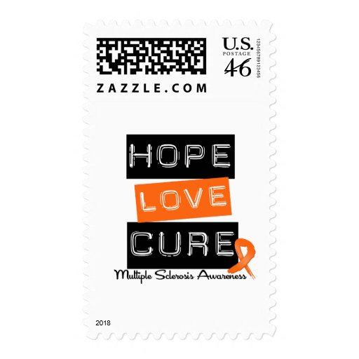 Multiple Sclerosis Hope Love Cure Postage Stamps