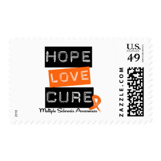 Multiple Sclerosis Hope Love Cure Stamps