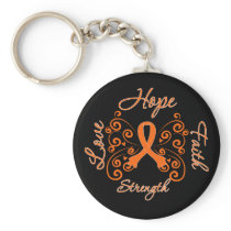 Multiple Sclerosis Hope Motto Butterfly Keychain
