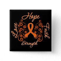 Multiple Sclerosis Hope Motto Butterfly Pinback Button