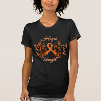 Multiple Sclerosis Hope Motto Butterfly Tee Shirts