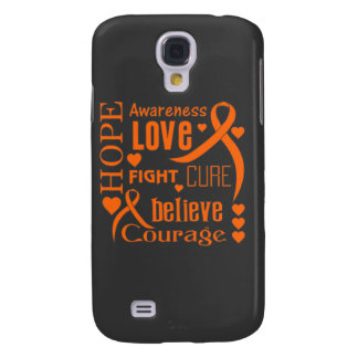 Multiple Sclerosis Hope Words Collage Samsung Galaxy S4 Covers