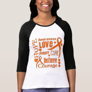 Multiple Sclerosis Hope Words Collage T-shirt