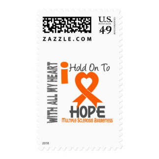 Multiple Sclerosis I Hold On To Hope Postage Stamps