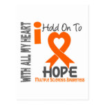 Multiple Sclerosis I Hold On To Hope Postcard
