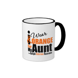 Multiple Sclerosis I Wear Orange For My Aunt Coffee Mugs