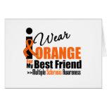 Multiple Sclerosis I Wear Orange For My Best Frien Greeting Card