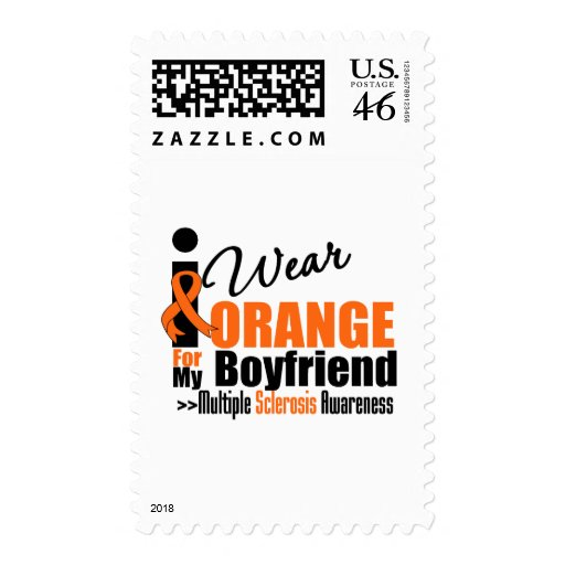 Multiple Sclerosis I Wear Orange For My Boyfriend Stamps