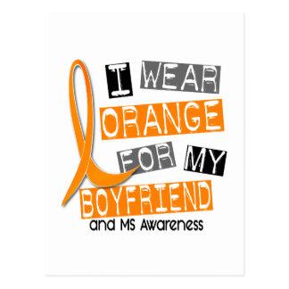 Multiple Sclerosis I Wear Orange For My Boyfriend Postcard