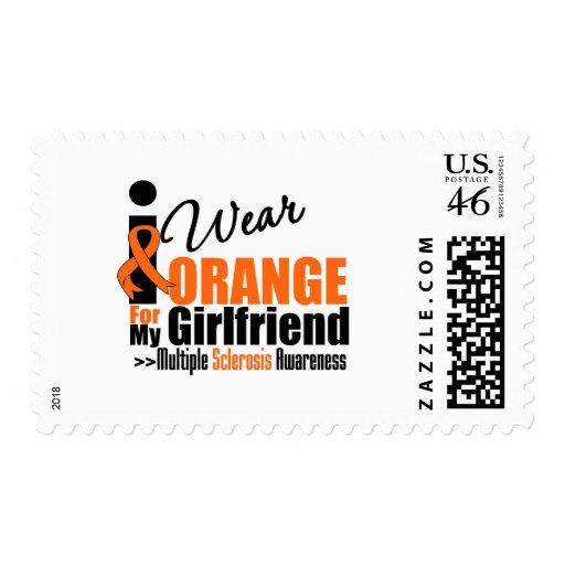 Multiple Sclerosis I Wear Orange For My Girlfriend Stamps