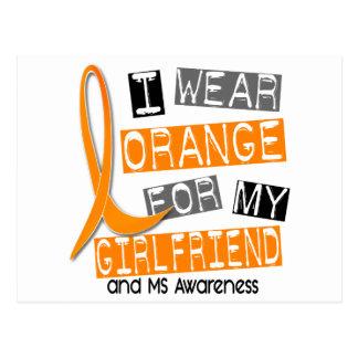 Multiple Sclerosis I Wear Orange For My Girlfriend Postcard