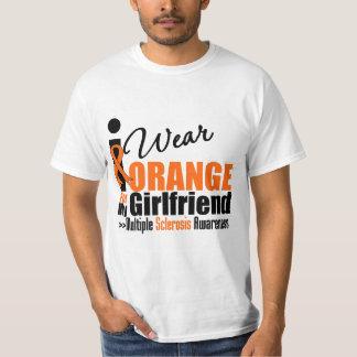 Multiple Sclerosis I Wear Orange For My Girlfriend T-shirt