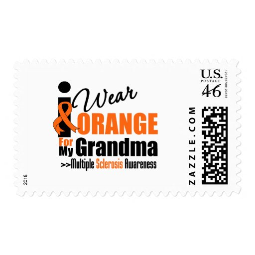 Multiple Sclerosis I Wear Orange For My Grandma Postage Stamps