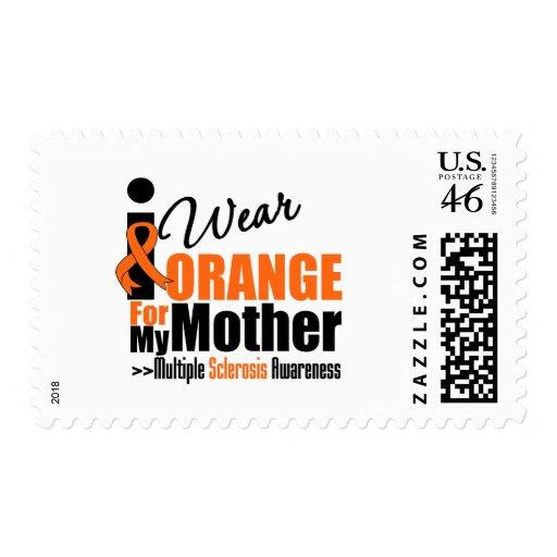 Multiple Sclerosis I Wear Orange For My Mother Postage Stamp