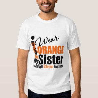 Multiple Sclerosis I Wear Orange For My Sister T Shirt