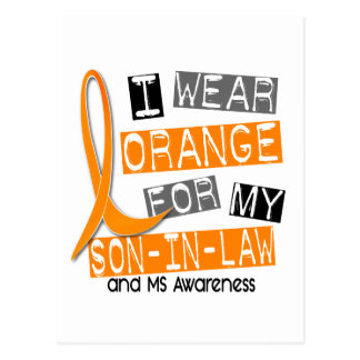 Multiple Sclerosis I Wear Orange For My Son-In-Law Postcard