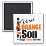 Multiple Sclerosis I Wear Orange For My Son Magnet