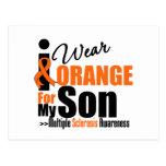 Multiple Sclerosis I Wear Orange For My Son Postcard