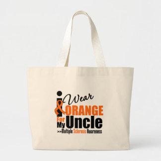 Multiple Sclerosis I Wear Orange For My Uncle Jumbo Tote Bag