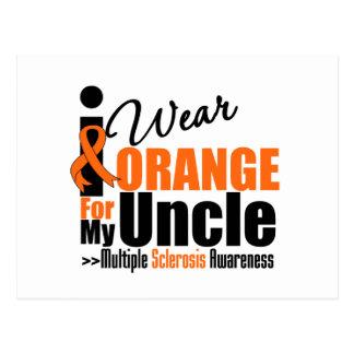 Multiple Sclerosis I Wear Orange For My Uncle Postcard