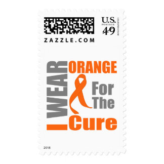 Multiple Sclerosis I Wear Orange For The Cure Stamp
