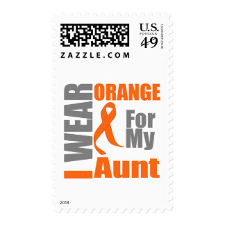 Multiple Sclerosis I Wear Orange Ribbon Aunt Postage Stamps