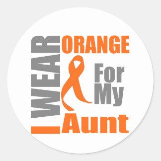 Multiple Sclerosis I Wear Orange Ribbon Aunt Stickers