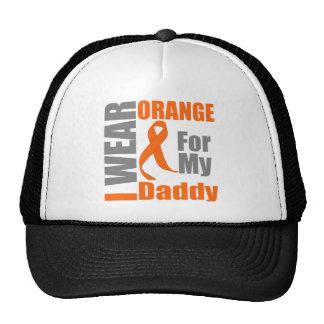 Multiple Sclerosis I Wear Orange Ribbon Daddy Trucker Hat