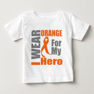 Multiple Sclerosis I Wear Orange Ribbon Hero Tee Shirt