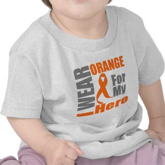 Multiple Sclerosis I Wear Orange Ribbon Hero Tshirts