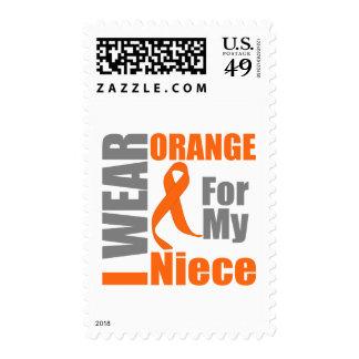 Multiple Sclerosis I Wear Orange Ribbon Niece Stamps