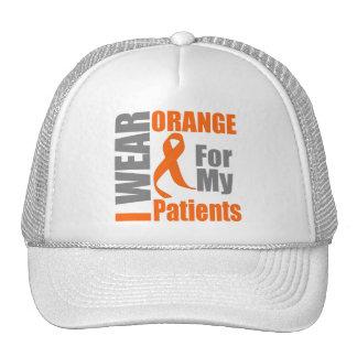 Multiple Sclerosis I Wear Orange Ribbon Patients Trucker Hat