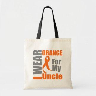 Multiple Sclerosis I Wear Orange Ribbon Uncle Budget Tote Bag