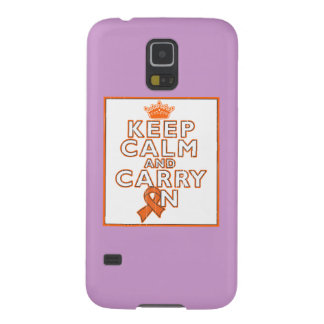 Multiple Sclerosis Keep Calm and Carry ON Galaxy S5 Cases
