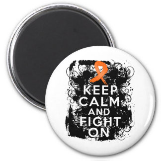 Multiple Sclerosis Keep Calm and Fight On 2 Inch Round Magnet