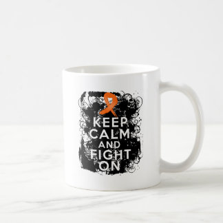 Multiple Sclerosis Keep Calm and Fight On Classic White Coffee Mug