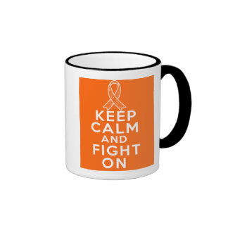 Multiple Sclerosis Keep Calm and Fight On Ringer Coffee Mug