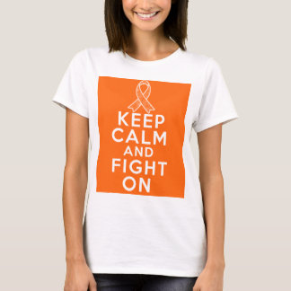 Multiple Sclerosis Keep Calm and Fight On T-Shirt